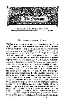 Die Zukunft, 12. September, Bd. 44.