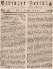 Elbinger Zeitung, No. 88 Donnerstag, 27. Juli 1843