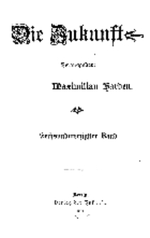Die Zukunft, 2. Januar, Bd. 46.