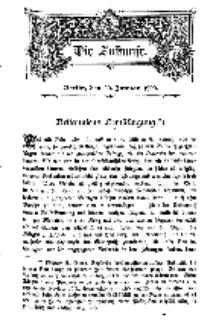 Die Zukunft, 20. Januar, Bd. 30.