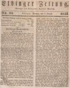 Elbinger Zeitung, No. 93 Montag, 7. August 1843