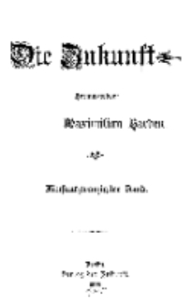 Die Zukunft, 1. October, Bd. 25.
