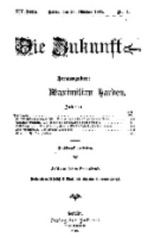Die Zukunft, 21. Oktober, Jahrg. XIV, Bd. 53, Nr 4.