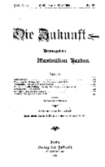 Die Zukunft, 9. Mai, Jahrg. XVI, Bd. 63, Nr 32.