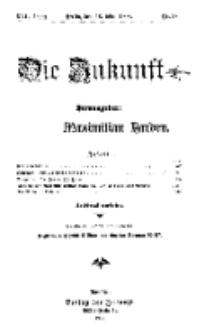 Die Zukunft, 16. Mai, Jahrg. XVI, Bd. 63, Nr 33.