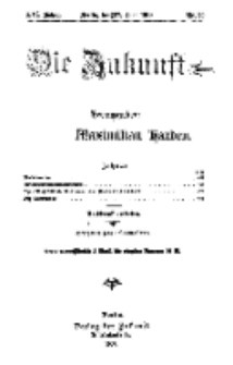 Die Zukunft, 27. Juni, Jahrg. XVI, Bd. 63, Nr 39.
