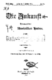 Die Zukunft, 1. Januar, Jahrg. XIX, Bd. 74, Nr 14.