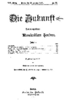 Die Zukunft, 25. Februar, Jahrg. XIX, Bd. 74, Nr 22.