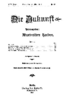 Die Zukunft, 18. März, Jahrg. XIX, Bd. 74, Nr 25.