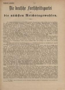 Die deutsche Fortschrittspartei und die nächsten Reichstagswahlen