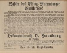 Wähler des Elbing-Marienburger Wahlkreises!