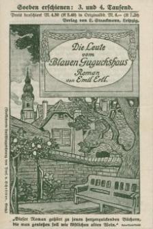 Die Leute vom Blauen Guguckshaus - Roman [ulotka]