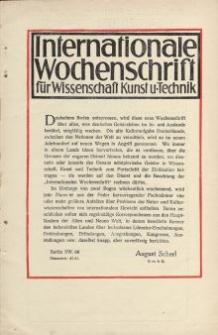 Internationale Wochenschrift für Wissenschaft Kunst u.Technik [ulotka]