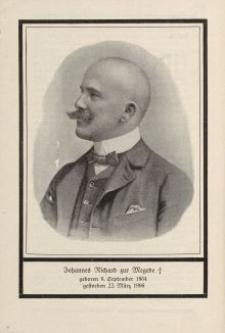 Johannes Richard zur Megede (1864-1906) [ulotka]