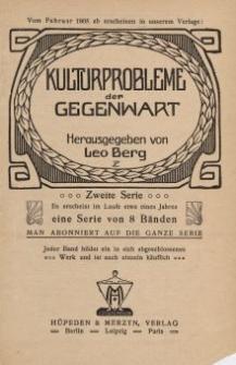 Kulturprobleme der Gegenwart [ulotka]