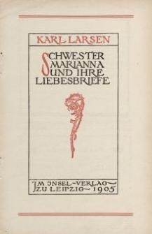 Karl Larsen, Schwester Marianna und ihre Liebesbriefe [ulotka]
