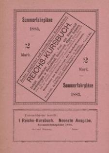 Sommerfahrpläne 1883 (Reichs-Kursbuch) - ulotka