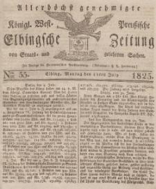Elbingsche Zeitung, No. 55 Montag, 11 Juli 1825