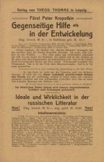 Verlag von Theod. Thomas in Leipzig [ulotka]