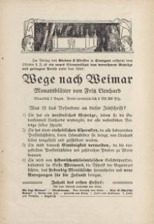 Wege nach Weimar [ulotka]