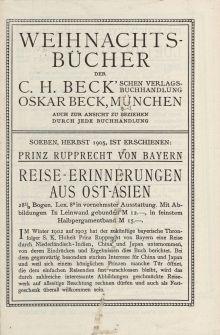 Weihnachtsbücher der C. H. Beck'schen Verlagsbuchhandlung, Oskar Beck, München [ulotka]