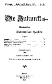 Die Zukunft, 23. Februar, Jahrg. XV, Bd. 58, Nr 21.