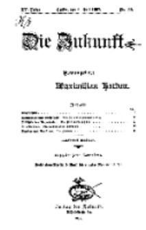 Die Zukunft, 6. Juli, Jahrg. XV, Bd. 60, Nr 40.