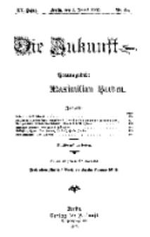 Die Zukunft, 3. August, Jahrg. XV, Bd. 60, Nr 44.