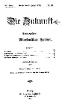 Die Zukunft, 10. August, Jahrg. XV, Bd. 60, Nr 45.