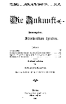 Die Zukunft, 24. August, Jahrg. XV, Bd. 60, Nr 47.