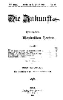 Die Zukunft, 31. August, Jahrg. XV, Bd. 60, Nr 48.