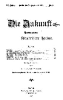 Die Zukunft, 21. September, Jahrg. XV, Bd. 60, Nr 51.