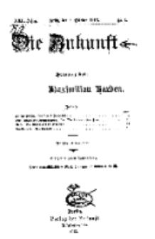 Die Zukunft, 4. Oktober, Jahrg. XXII, Bd. 85, Nr 1.