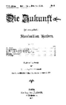 Die Zukunft, 1. November, Jahrg. XXII, Bd. 85, Nr 5.