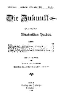 Die Zukunft, 27. Dezember, Jahrg. XXII, Bd. 85, Nr 13.