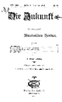 Die Zukunft, 3. Januar, Jahrg. XXII, Bd. 86, Nr 14.