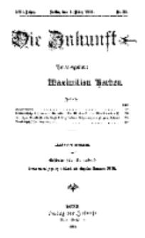 Die Zukunft, 7. März, Jahrg. XXII, Bd. 86, Nr 23.