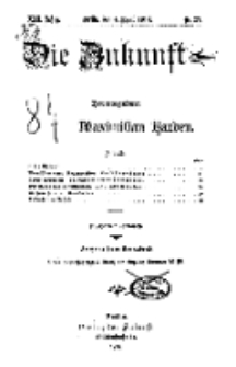 Die Zukunft, 4. April, Jahrg. XXII, Bd. 87, Nr 27.