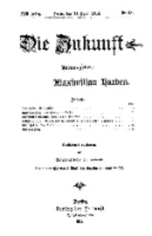 Die Zukunft, 11. April, Jahrg. XXII, Bd. 87, Nr 28.