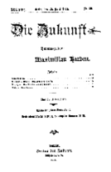 Die Zukunft, 25. April, Jahrg. XXII, Bd. 87, Nr 30.
