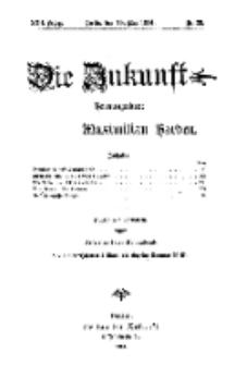 Die Zukunft, 16. Mai, Jahrg. XXII, Bd. 87, Nr 33.