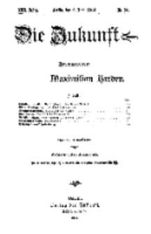 Die Zukunft, 6. Juni, Jahrg. XXII, Bd. 87, Nr 36.