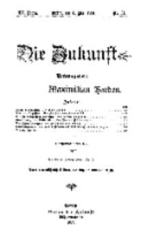 Die Zukunft, 4. Mai, Jahrg. XV, Bd. 59, Nr 31.