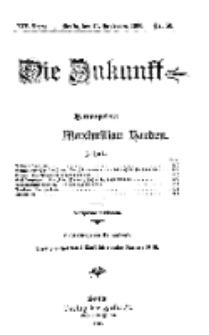 Die Zukunft, 15. September, Jahrg. XIV, Bd. 56, Nr 50.