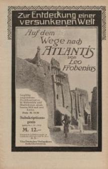 Auf dem Wege nach Atlantis von Leo Frobenius [ulotka]