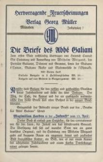 Hervorragende Neuerscheinungen aus dem Verlag Georg Müller [ulotka]