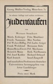 Judentaufen [ulotka]