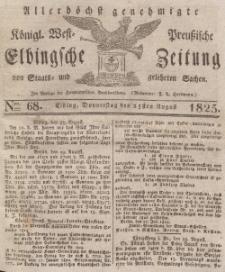 Elbingsche Zeitung, No. 68 Donnerstag, 25 August 1825