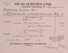 Rechnung für Herrn Klever [rachunek]