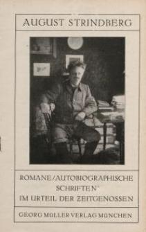 August Strindberg. Romane / Autobiographische Schriften...[ulotka]